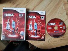 NBA 2K13 (Nintendo Wii, 2012). Complete. Baskebtall. Free Shipping.