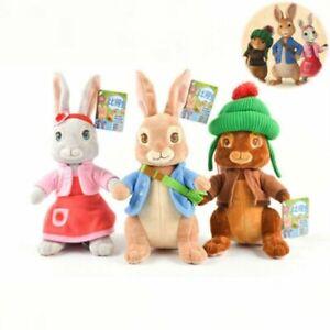 New Peter Rabbit,Lilly Bobtail ,Benjamin Bunny Stuffed Plush Soft Toys Kids Gift