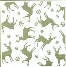Gina Marie stencil / template - Deer with snow 6x6