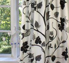 Vorhang Eule schwarz Offwhite Gardine 115x240 Landhaus