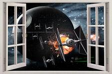 Star Wars 3D Window View Wall Stickers Art Mural Kids  Boys Decal Nursery Deocr