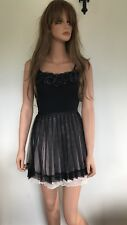 Forever New Lace and Tuille Mix Skirt in Black, Rose & Cream Size 10 BNWT