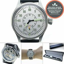 44mm STEEL Men Watch 6497 SEA-GULL ST3620 Swan-Neck Movement Sapphire Glass W406