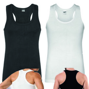 Herren Unterhemden Muskelshirt Fitness Rambo X Form Tanktop Baumwolle S bis XXXL