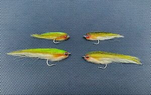 """3"""" or 2"""" Baitfish Minnow Streamer Fly for Saltwater or Freshwater w/ 4D eyes"""