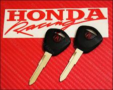 2 x OEM ACURA IGNITION Master Key Blank RED Acura Integra 86-89 & Legend 86-95
