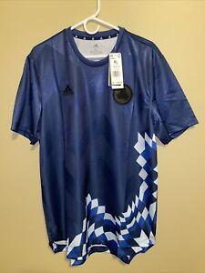 Adidas AeroReady TAN Advanced Soccer Jersey Size XL Team Navy GI4591 NWT