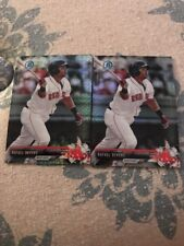 (2) 2017 BOWMAN CHROME RAFAEL DEVERS MEGA BOX REFRACTORS SP RED SOX