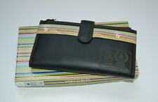 Visconti purse, real leather, black/red Colorado purse, rugby edt. new (1006)