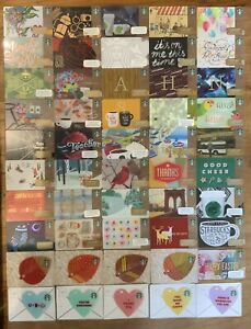 Rare Collectible Starbucks Gift Card Lot of 50 (Set #22)