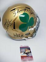 3 Amigos Notre Dame Signed Autographed Shamrock Full Size Helmet Fighting Irish
