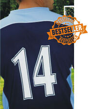 SET OF FOOTBALL SHIRT NUMBERS / IRON / HEATPRESS ON / 1-17 ROYAL / EASY TO APPLY