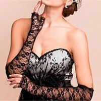 1 Pair Women's Bride Long Lace Arm Elbow Gloves Fingerless Wedding Lace Glove-