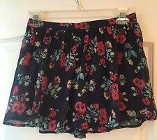 Clothing, Shoes & Accessories Hollister Juniors Womans Blue Color Red Floral Mini Short Skirt Size M Medium