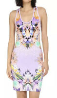 Just Cavalli Multicolor Fitted Printed Tank Dress Women's Size Euro 42 70205