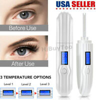 USB Recharge Electric Heated Eyelash Curler Long Lasting LCD Display 3D Heated