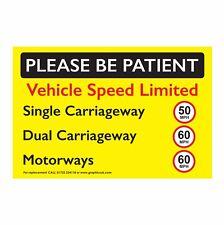AUTOCARRO Arenato/Camion velocità del veicolo Adesivo limitato 50 MPH 60 MPH