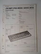 Original ROLAND Service Notes- JX-8P/PG-800 Keyboard