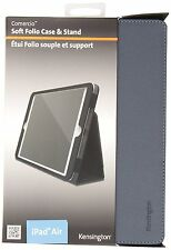 Kensington Comercio Soft Folio Cover Case and Stand for iPad Air 1- Slate Grey