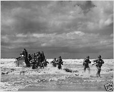 "US Army US Marines Troops Landing Craft 1943 World War 2 Reprint Photo 6x5"""