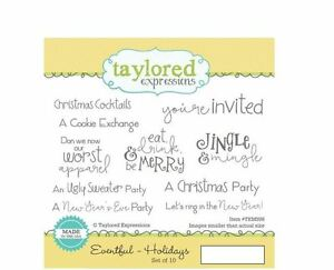 Taylored Expressions Rubber Cling Stamp Set ~ EVENTFUL ~ HOLIDAYS Party  ~TEMD98
