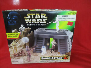 Star Wars The Power of The Force ENDOR ATTACK Playset Kenner POTF Brand New