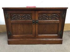 Old Charm oak Double Door TV Stand Media Unit Cupboard Coffee Table