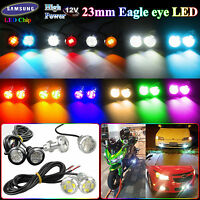 Pairs Switchback Dual Color 5630/5730 6-SMD Eagle Eye Led Lights DRL 9W 23MM 12V