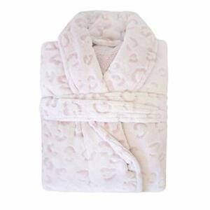 Bambury Leopard Microplush Bathrobe, Medium/Large, Blush by Bambury