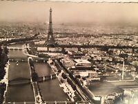 Vintage Postcard France  Guy Eiffel Tower Aerial Paris