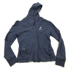 VINTAGE Disney Sweater Hoodie Women's Size Medium M Blue Cardigan Long Sleeve
