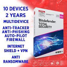 Bitdefender total Security 2021 multi Device 10 dispositivos 2 años versión completa + VPN
