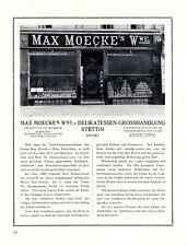 Moecke Dekikatessen Stettin XL Reklame 1924 Szczecin Polen Werbung Pommern +
