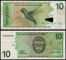 NETHERLANDS ANTILLES 10 GULDEN (P28d) 2006 UNC