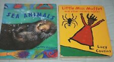 LUCY COUSINS Little Miss Muffet & Other Nursery Rhymes, SEA ANIMALS, Board books