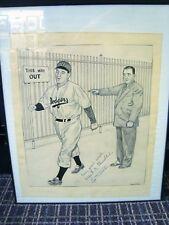 1947 Leo Durocher & Albert Chandler Signed SUSPENSION Original Art by Bristol