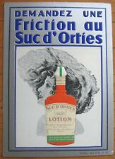 SUPER Art Deco 1938 French Shampoo/Lotion Advertising Poster/Counter Sign