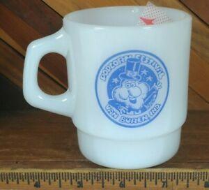 Vintage Anchor Hocking Fire King Mug Cup RARE Popcorn Festival Van Buren Indiana