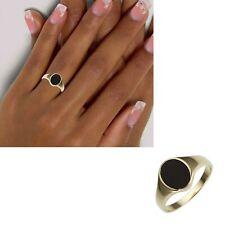 Damen Ring 585 echt Gold breit schwarzer Onyx Edelstein 14 Karat Gr 54 56 58 neu