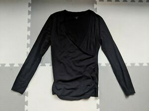 Gap Maternity Nursing Breastfeeding Top Size S Small uk 8/10 Black Crossover
