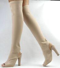 acafd4dc9908e Bottes Femmes Beige 35 Jambières Bottes Talons Hauts Plateforme Chaussures  Femmes Neuves