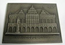 Buderus arte fundición plaquita 1987 el ayuntamiento de Bremen
