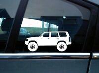 2x Off Road Allrad stickers aufkleber for Nissan Navara king cab D40 2004+