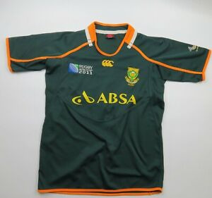 South Africa 2011 Canterbury Jersey Springboks size M Embroidered Rugby