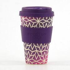 Ecoffee Cup Bambus 400ml Stargrape With Dark Purple Silicon Kaffee To Go #2929