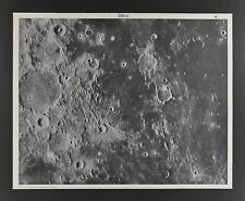 1960 Lunar Moon Map Photo Nubium N. D5-c Yerks Observatory Y160 Crater Astronomy