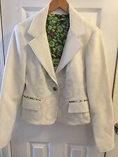Pianura Studio Blazer jacket white size Med. 2 buttons ITALY SIze 46