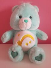 2004 Wish Bear Animated Care Bear - sings & talks, Aquamarine Plush/Yellow Stars