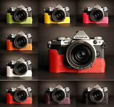Genuine Real Leather Half Camera Case Bag for Olympus OM-D E-M5 EM5 II 8 Colors