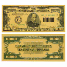 1PC Gold Foil US $10000 Dollar Banknote Bill Money Note Collection Crafts Gifts